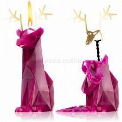 54 Celsius PyroPet DYRI (Reindeer) dekoratívna sviečka burgundy 22 cm
