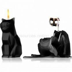 54 Celsius PyroPet KISA (Cat) dekoratívna sviečka Black 17 cm