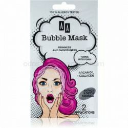 AA Cosmetics AA Bubble Mask spevňujúca pleťová maska 2 x 4 ml