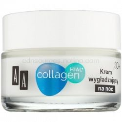 AA Cosmetics Collagen HIAL+ nočný vyhladzujúci krém 30+ 50 ml