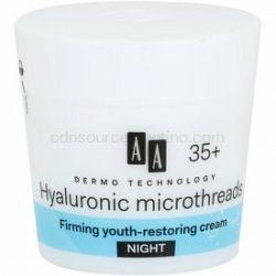 AA Cosmetics Dermo Technology Hyaluronic Microthreads  omladzujúci a vyhladzujúci nočný krém 35+ 50 ml