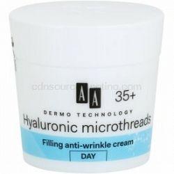 AA Cosmetics Dermo Technology Hyaluronic Microthreads  vyplňujúci denný krém proti vráskam 35+ 50 ml