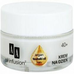AA Cosmetics Oil Infusion2 Argan Tsubaki 40+ denný krém na obnovu pevnosti pleti s protivráskovým účinkom Hial+ 50 ml