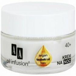 AA Cosmetics Oil Infusion2 Argan Tsubaki 40+ regeneračný nočný krém s protivráskovým účinkom 50 ml