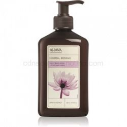 Ahava Mineral Botanic Lotus & Chestnut zamatové telové mlieko lotos a gaštan 400 ml