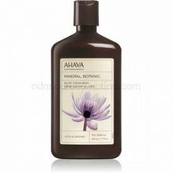 Ahava Mineral Botanic Lotus & Chestnut zamatový sprchový krém lotos a gaštan 500 ml