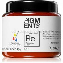 Alfaparf Milano Pigments obnovujúca maska pre poškodené vlasy pre zvýraznenie farby vlasov 200 ml
