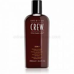 American Crew Hair & Body 3-IN-1 šampón, kondicionér a sprchový gél 3 v 1 pre mužov 250 ml