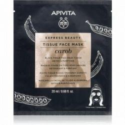 Apivita Express Beauty Carob detoxikačná plátenná maska s hydratačným účinkom 20 ml