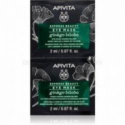 Apivita Express Beauty Ginkgo Biloba maska na oči proti opuchom a tmavým kruhom 2 x 2 ml