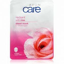 Avon Care plátenná maska pre všetky typy pleti Rose 1 ks