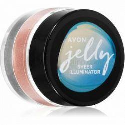 Avon Jelly rozjasňovač na tvár a telo odtieň Rose Glow 10 g