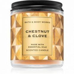 Bath & Body Works Chestnut & Clove vonná sviečka I. 198 g