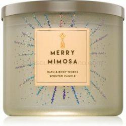 Bath & Body Works Merry Mimosa vonná sviečka 411 g