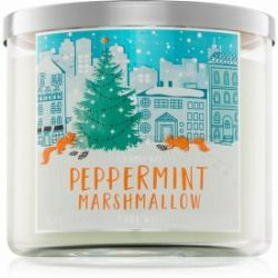 Bath & Body Works Peppermint Marshmallow vonná sviečka 411 g