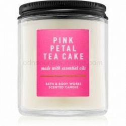Bath & Body Works Pink Petal Tea Cake vonná sviečka 198 g