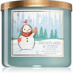 Bath & Body Works Snowflakes & Citrus vonná sviečka 411 g