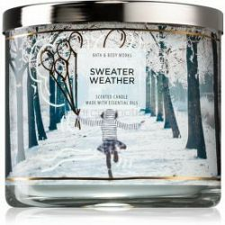Bath & Body Works Sweater Weather vonná sviečka IV. 411 g