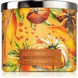 Bath & Body Works Sweet Cinnamon Pumpkin vonná sviečka 411 g
