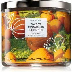 Bath & Body Works Sweet Cinnamon Pumpkin vonná sviečka II. 411 g