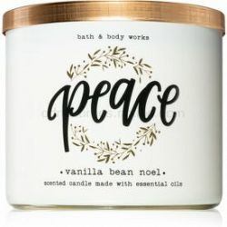 Bath & Body Works Vanilla Bean Noel vonná sviečka s esenciálnymi olejmi II. 411 g