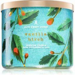 Bath & Body Works Vanilla Birch vonná sviečka s esenciálnymi olejmi 411 g