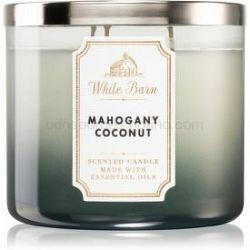 Bath & Body Works White Barn Mahogany Coconut vonná sviečka 411 g