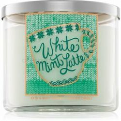 Bath & Body Works White Mint Latte vonná sviečka I. 411 g