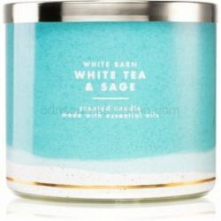 Bath & Body Works White Tea & Sage vonná sviečka 411 g