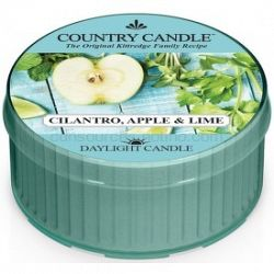 Country Candle Cilantro, Apple & Lime čajová sviečka 42 g