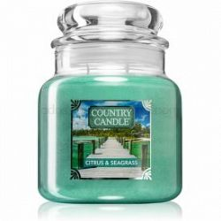 Country Candle Citrus & Seagrass vonná sviečka stredná 453 g