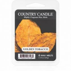 Country Candle Golden Tobacco vosk do aromalampy 64 g