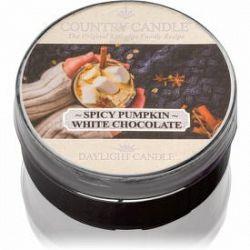 Country Candle Spicy Pumpkin White Chocolate čajová sviečka 42 g