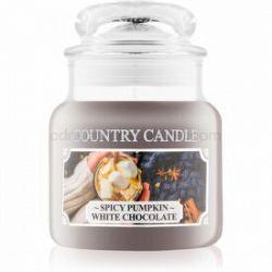Country Candle Spicy Pumpkin White Chocolate vonná sviečka 104 g