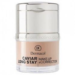 Dermacol Caviar Long Stay dlhotrvajúci make-up s výťažkami z kaviáru a zdokonaľujúci korektor odtieň fair 30 ml