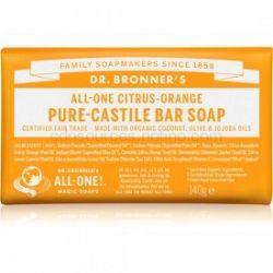 Dr. Bronner's Citrus & Orange tuhé mydlo 140 g