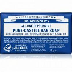 Dr. Bronner's Peppermint tuhé mydlo 140 g