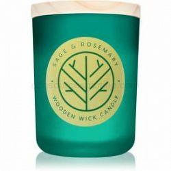 DW Home Sage & Rosemary vonná sviečka s dreveným knotom 107,73 g